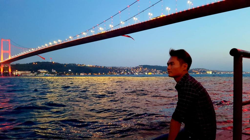 Current Situation in Istanbul Turkey Bosphorus Bridge & River