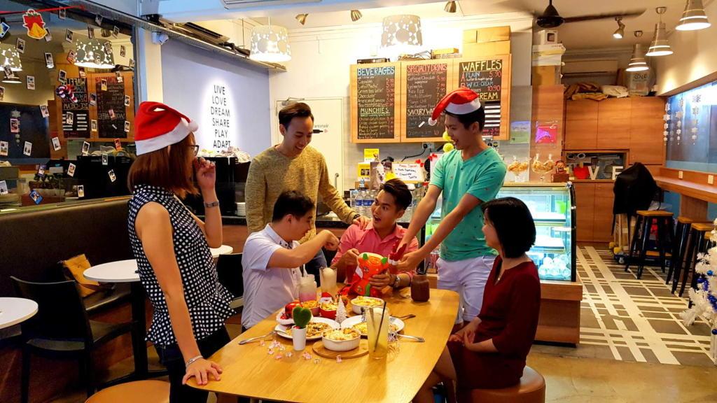 Xmas Gathering Vegetarian Cafe