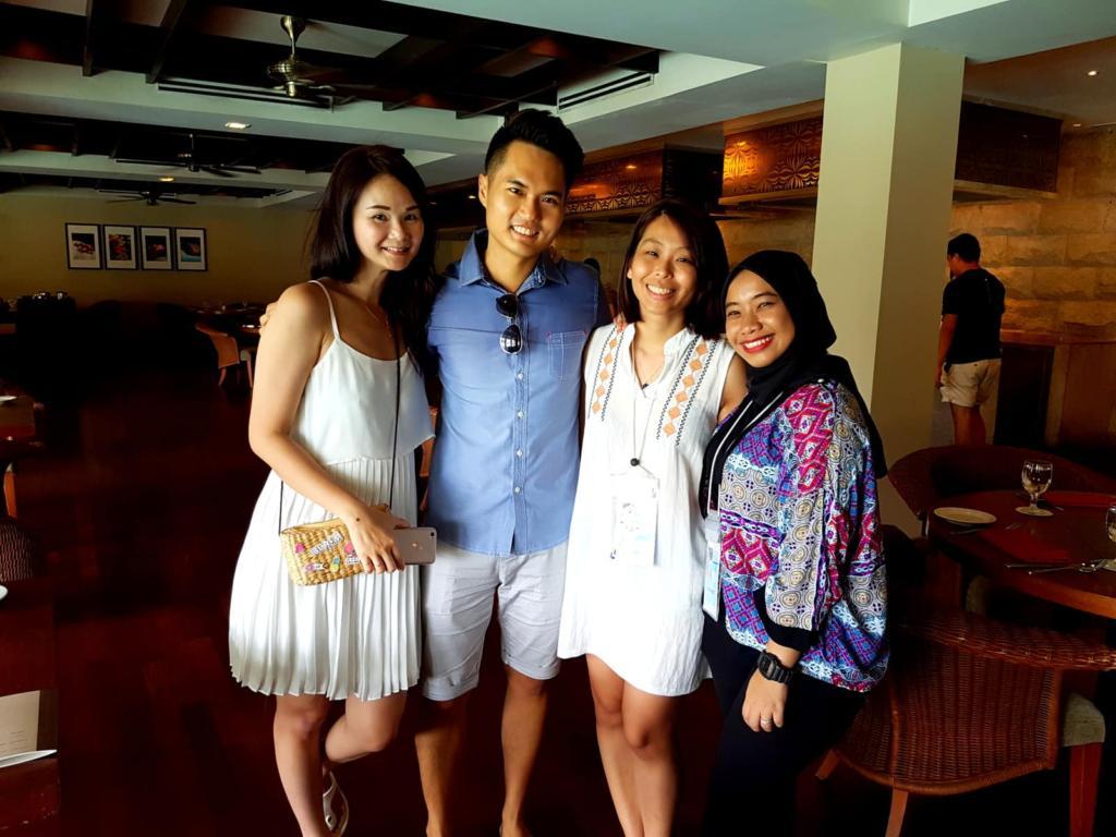 With the sweet Marcom girls from Berjaya Group! :-)