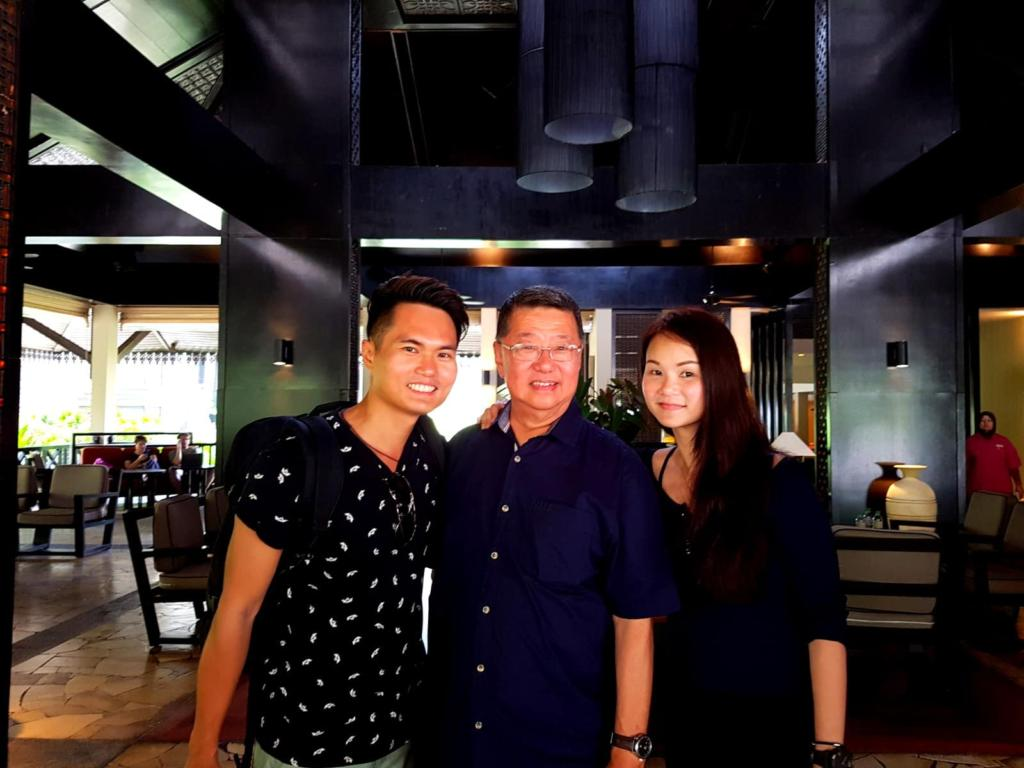 With Mr George Tey, GM, The Taaras Resort and Sophia Lim, Creative Arts Director, Berjaya Group