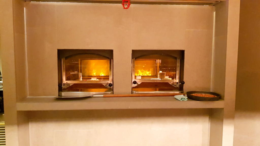 Cathay Pacific Business Class Lounge The Pier Food Hall Fire Stove