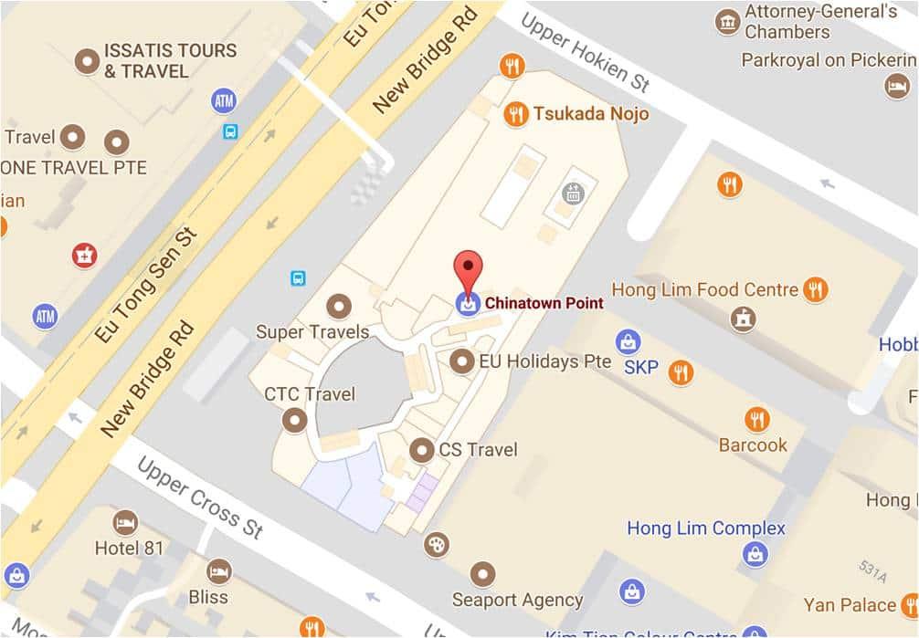 Map to Lotus Kitchen Vegetarian Singapore