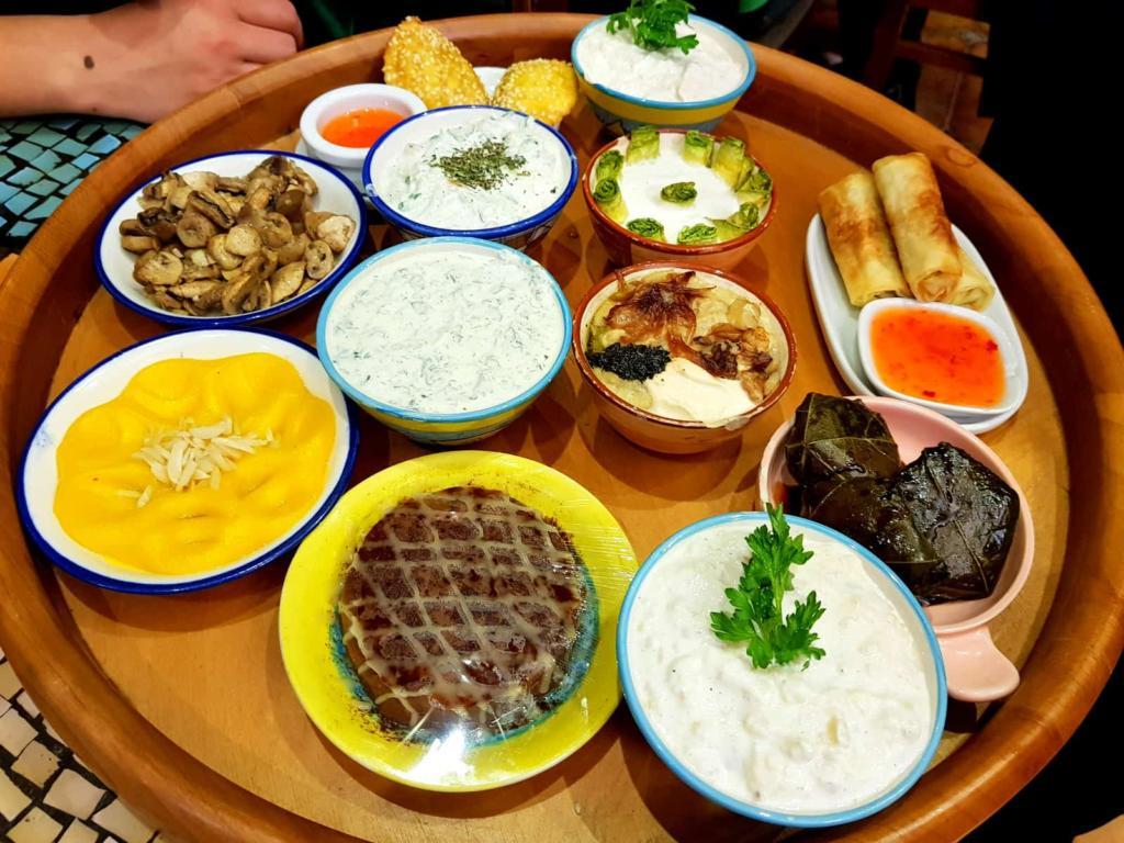 Iranian Vegetarian Meal