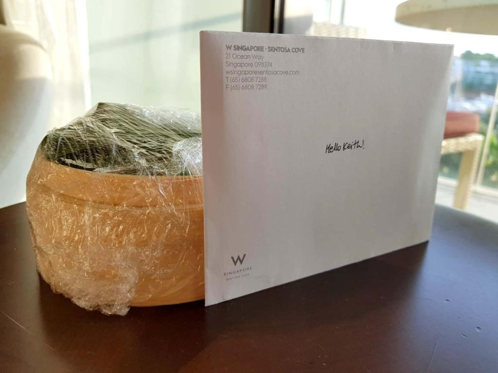 W Singapore Welcome Letter