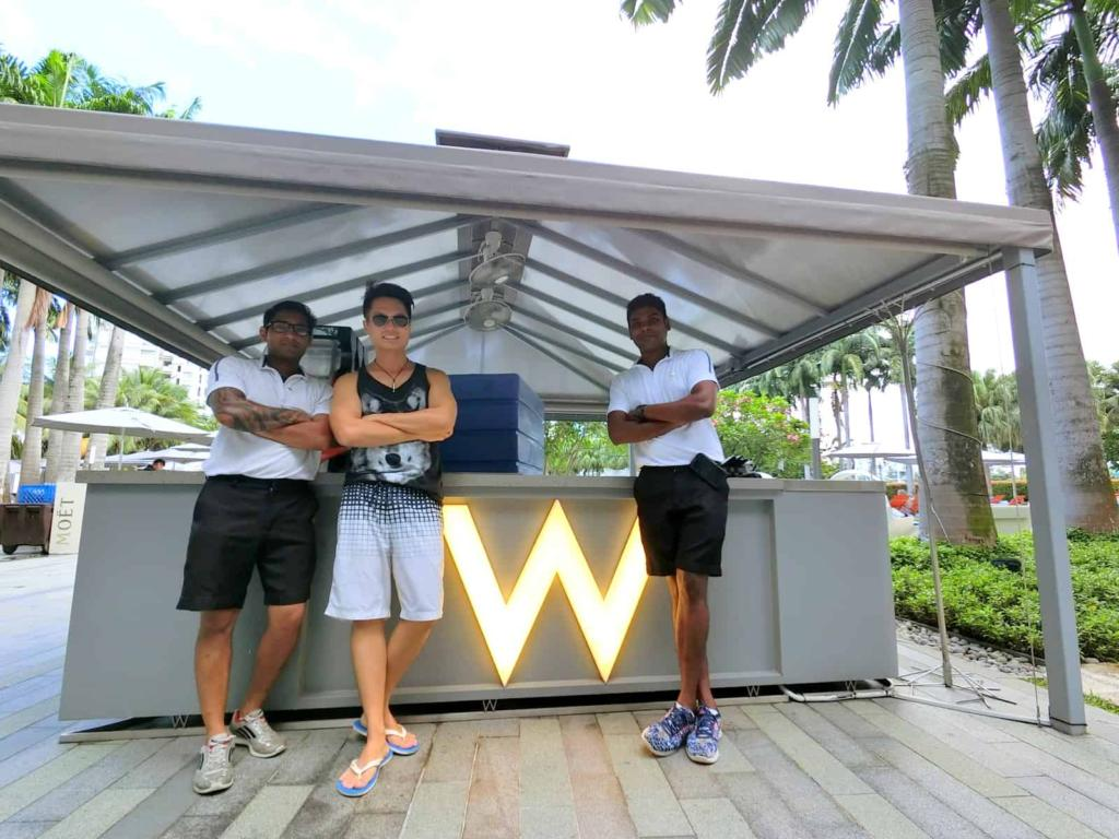 W Singapore Swimming Pool Staff