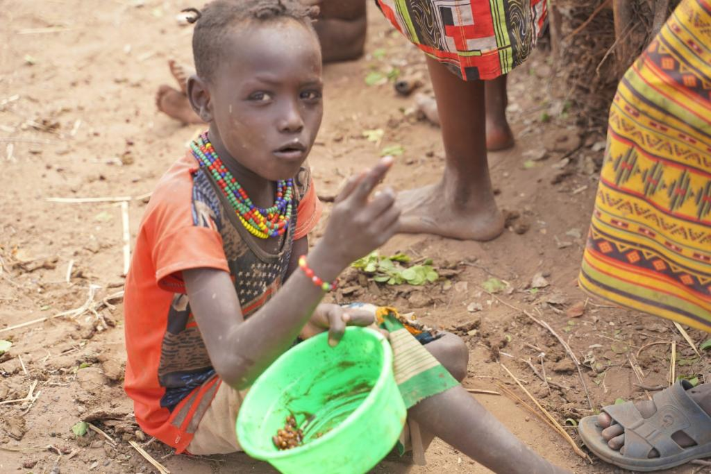 Ethiopian Child Eating