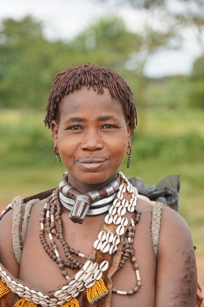 Hamer Tribe Woman with love scars