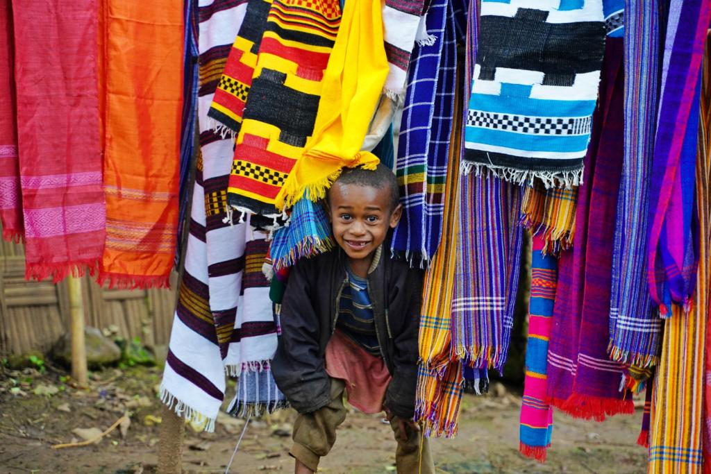 Cute Dorze Tribe Child With Bulluko