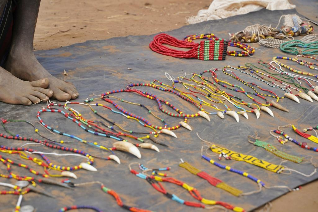 Dassanech tribe handicraft merchandise