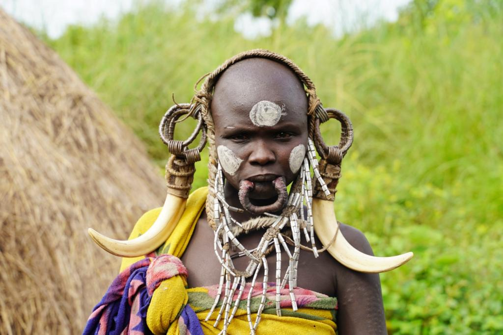 Mursi Lady with Lip Plate