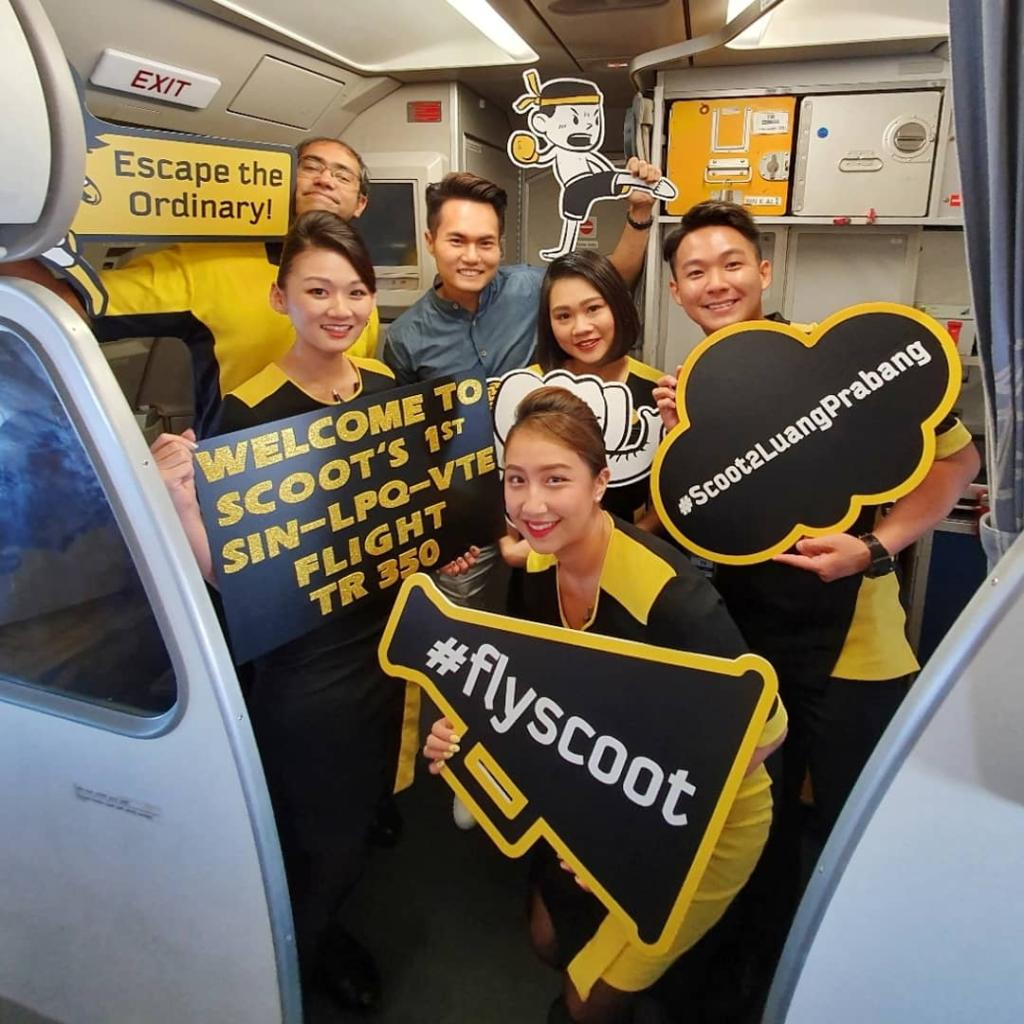 Scoot Inaugural Flight To Laos