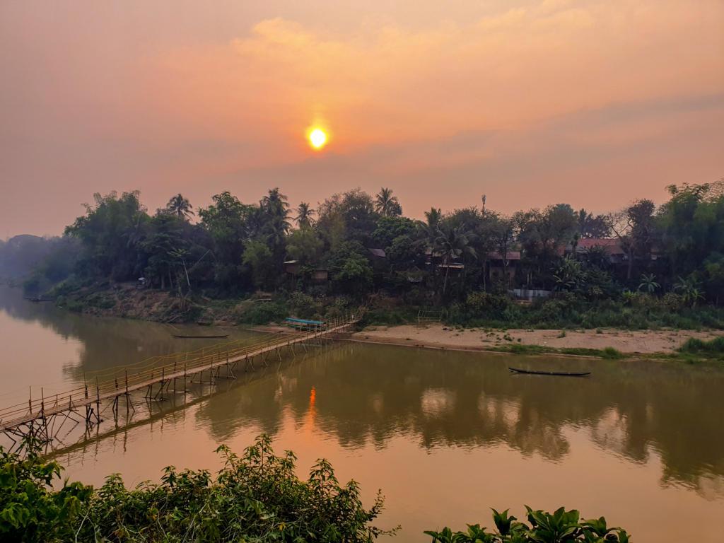 Morning Sunrise At Mekong River