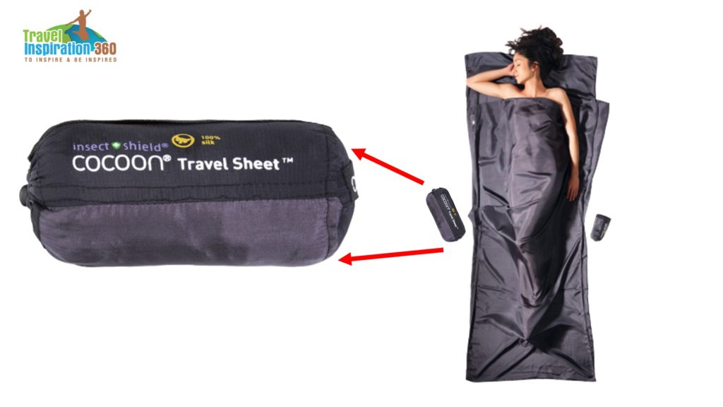 Cocoon Travel Sheet Silk Insect Shield