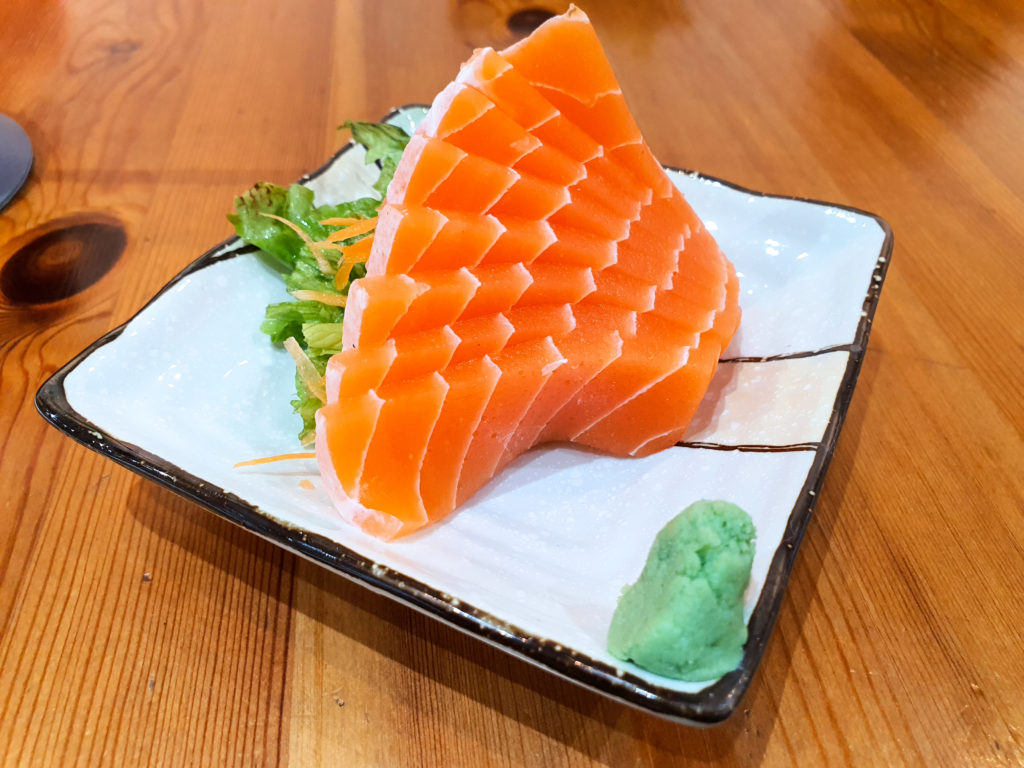 Salmon Sashimi (Singapore Vegetarian)